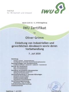Einleitung von industriellen u. gewerblichen Abwässern